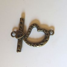 Fermoir en T Coeur 21 mm Bronze