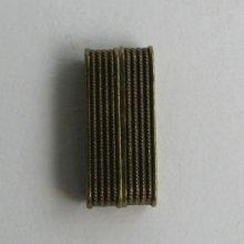 Fermoir magnétique bronze rectangle plat 34mm