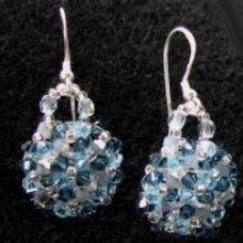 Kit boucles d'oreilles Arz Bleu