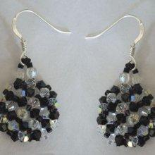 Kit boucles d'oreilles Arz Noir Crystal