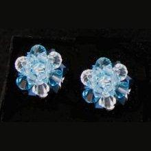 Kit Boucles d'oreilles Boule Bleu