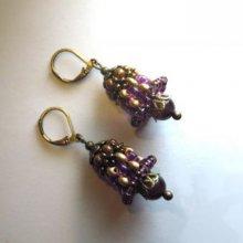 Kit pour Boucles d'oreilles Cloches Violet