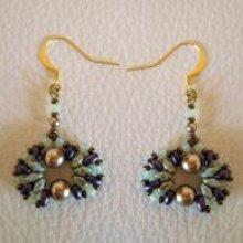Kit boucles d'oreilles Coquet Violet/vert