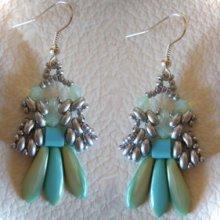 Kit boucles d'oreilles Dagos turquoise