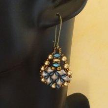 Kit boucles d'oreilles Diamonduo bleu