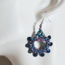 Kit boucles d'oreilles Pip violet