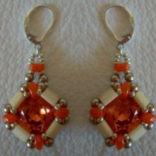 Kit boucles d'oreilles Tila Cub' Orange
