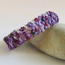 Bracelet Amitié mix violet lilas en kit