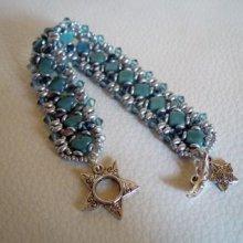 Bracelet Argyle Bleu indien en kit
