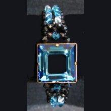 Kit bracelet Kanak Swarovski Noir & bleu