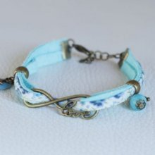 Kit bracelet Love en Liberty bleu