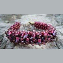 Bracelet Magatama Lie-de-vin en kit