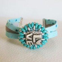 Bracelet médaillon Livelove turquoise en kit