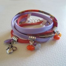 Kit bracelet double Liberty Corail parme
