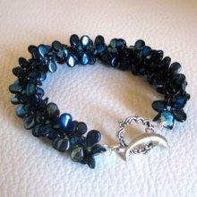 Bracelet Pip violet irisé en kit