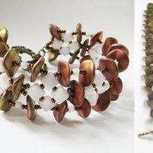 Bracelet Ripple Silky  Blanc en kit