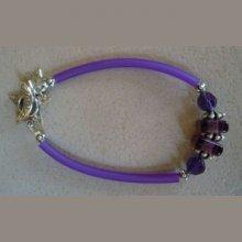 Kit Bracelet Tube Violet cristal Swarovski