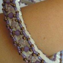 Bracelet Tila Anneau 3D Parme (moyen) en kit