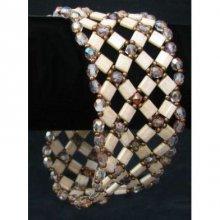 Bracelet Tila tressé beige  en kit