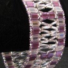 Kit bracelet Tila & Twist à fenêtres Violet/argent