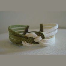 Bracelet à tresser duo daim en kit