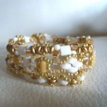 Trio de bracelets Twin Blanc/doré en kit