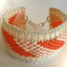 Bracelet Tila Twinika Orange en kit