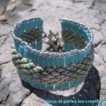 Bracelet Tila Twinika Turquoise en kit
