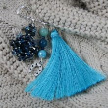 Broche pompon Andros Denim en kit