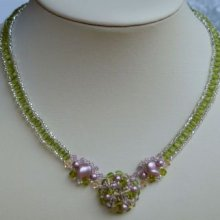 Kit collier Bounty Rose Olivine