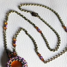 Kit collier chaîne Queensland Topaz violet