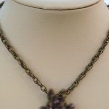Collier chaîne 3 anneaux bronze en kit