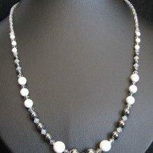 Kit collier Howlite black diamond