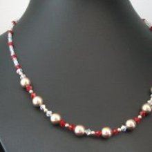 Collier en kit Saturne rouge