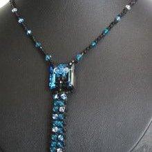 Kit collier Kanak cravate Noir Bermuda blue