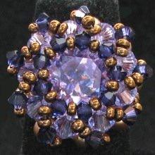 Kit bague Djerba Violet et or