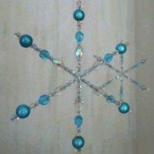 Flocon de cristal Bleu en kit sur armature fer