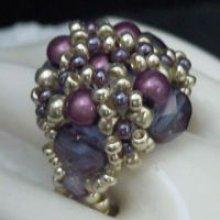 Bague Java violet en kit