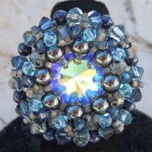 Kit bague Latitude Bleu Hématite