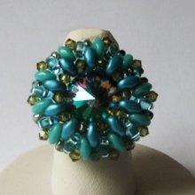 Kit bague Livelove vert turquoise