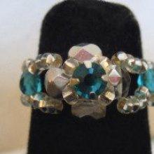 Bague en kit Lolita Strass Bleu turquoise