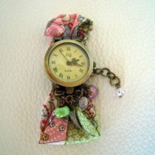 Kit montre bracelet Liberty Mauvey rose