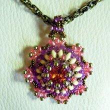 Kit pendentif médaillon Bohemian