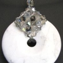 Pendentif en kit Howlite Black diamond