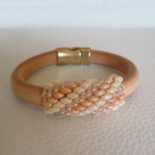 Bracelet en kit Regaliz naturel perles Nude