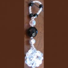 Suspension en kit Boule Noir & argent