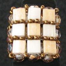 Kit bague carrée Tila Beige