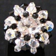 Kit bague Tinos Noir & cristal