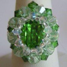 Kit bague Tinos Ovale Vert fougère