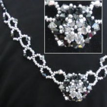Notice de collier honshu noir & argent
